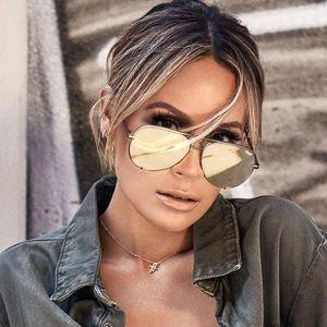 Quay x Desi Perkins 'High Key' Aviator Sunglasses